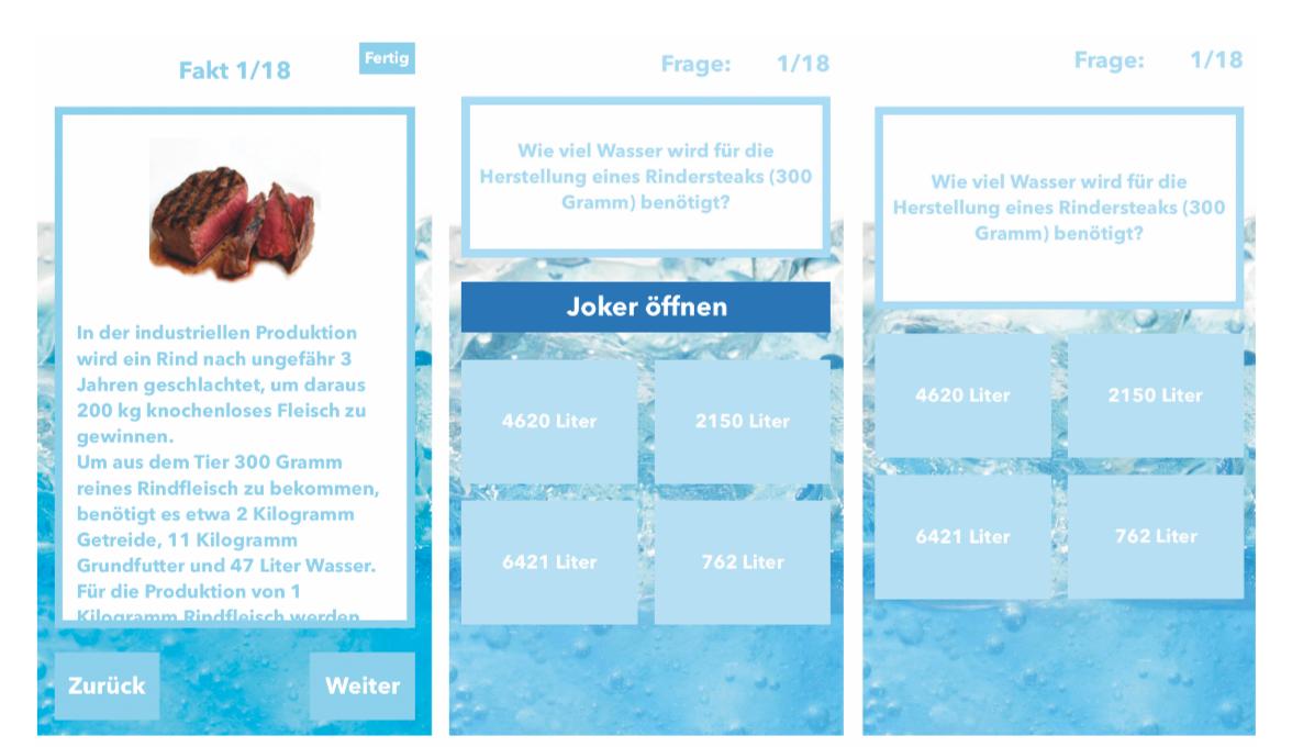 Studie gamifizierter UX-Designs zum virtuellen Wasserverbrauch von  Konsumprodukten