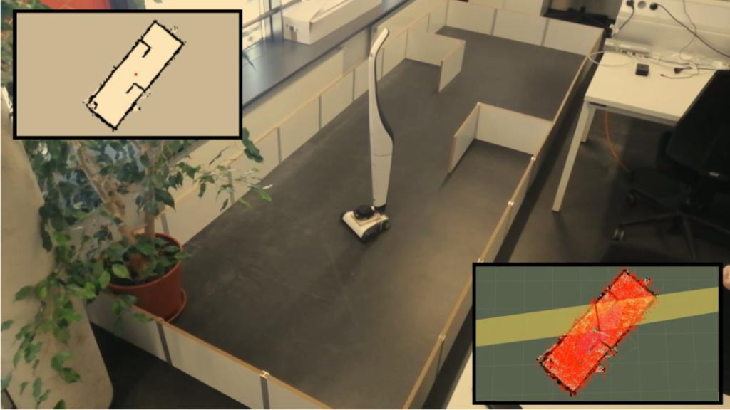 Prototypischer Anwendungsfall eines manuellen Staubsaugers zur Digitalisierung von Reinigungsdaten.