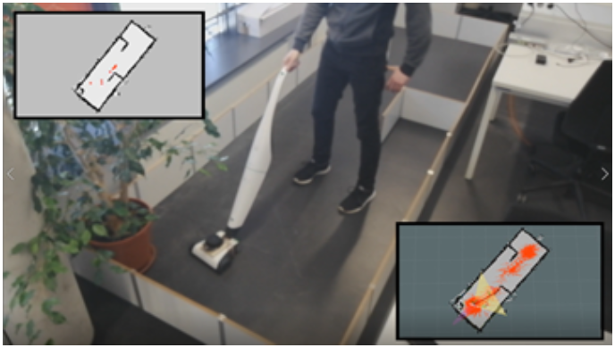 Improving Mixed-initiative Collaboration between Humans and Robots when Vacuuming the Floor by Tracking Manual Cleaning