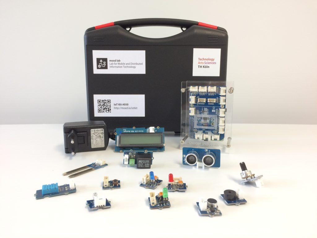 Ein IoT Kit mit einem Raspberry Pi und diversen Sensoren und Aktoren