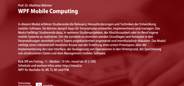Mobile Computing (WS 19/20)